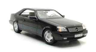 Mercedes-Benz 600SEC C140 1992 black 1:18 Cult Scale Models