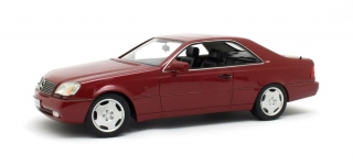 Mercedes-Benz 600SEC C140 1992 red metallic 1:18 Cult Scale Models