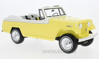 Jeep Jeepster Commando Convertible 1970 yellow/white 1:18 Bos Models