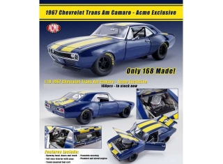 Chevrolet Trans Am Camaro 1967 blue/yellow 1:18 Acme
