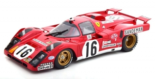 Ferrari 512 M #16 Craft,/Weir 4th Place 24h LeMans 1971 1:18 CMR
