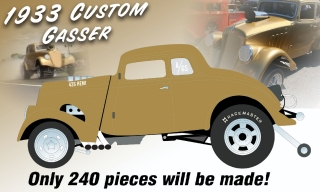 Custom Gasser *Dirty Thirty* 1933 gold metallic 1:18 Acme Diecast