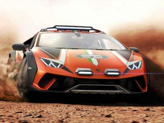 Lamborghini Huracan Sterrato orange 1:18 Look Smart Models
