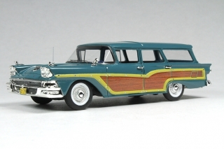 Ford USA Country Squire Station Wagon 1958 gulf stream/wood 1:43 Goldvarg Collection