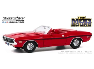 Dodge Challenger R/T Convertible *The Mod Squad TV Series* 1970 rallye red 1:18 Greenlight