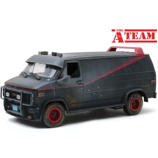 GMC Vandura Weathered Version with Bullet Holes *The A-Team TV Series* 1983 grey/black 1:18 Greenlight
