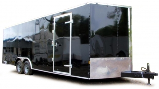 Enclosed Trailer black/silver 1:18 Auto World