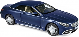 Mercedes-Maybach S650 Cabriolet 2018 dark blue metallic 1:18 Norev
