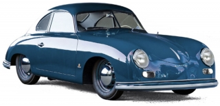 Porsche 356 Coupe 1952 blue 1:18 Norev