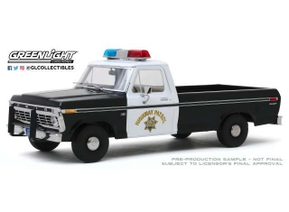 Ford F100 California Highway Patrol 1975 white/black 1:18 Greenlight