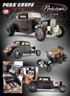 Ford Rat Hot Rod *Pork Chop's 190 Proof* 1932 black/brown 1:18 Acme Diecast