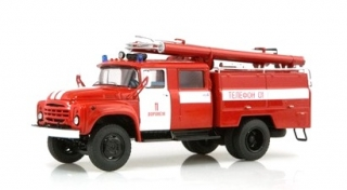 ZIL 131 Fire Engine AC-40 red/white 1:43 SSM Start Scale Models