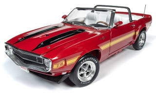 Shelby Mustang Convertible *Hemmings Muscle Machines* 1970 candy apple red 1:18 Auto World