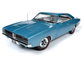 Dodge Charger R/T Hardtop MCACN 1969 B3 light blue 1:18 Auto World