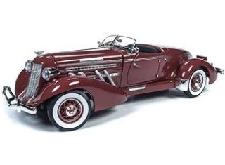 Auburn Speedster 1935 plum burgundy 1:18 Auto World
