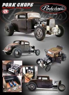 Ford Rat Hot Rod *Pork Chop´s 190 Proof* 1932 black/brown 1:18 Acme Diecast