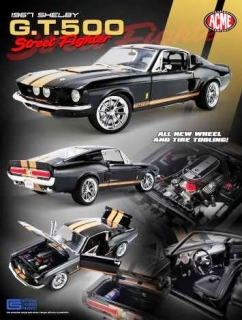 Shelby GT500 *Street Fighter* 1967 black/gold 1:18 Acme Diecast