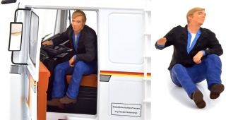 Figure Trucker Driver Gunther Sitting in the Truck 1:18 Road Kings
