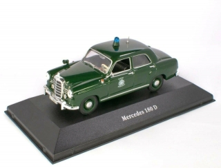 Mercedes-Benz 180D Deutschland Police Car 1953 green 1:43 Altaya