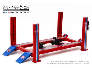 4-Post Lift *STP* blue/red 1:18 GreenLight