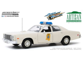 Plymouth Fury Mississippi Highway Patrol *Smokey and the Bandit 1977* white 1:18 Greenlight