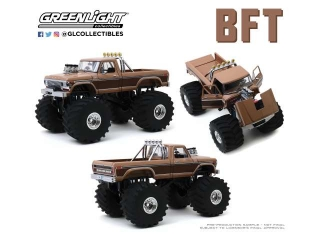 Ford F-350 Monster Truck with 66-Inch Tires Kings of Crunch 1978 1:18 Greenlight