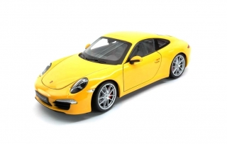 Porsche 911 (991) Carrera S 2012 yellow 1:18 Welly