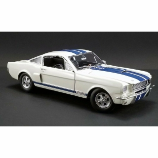 Shelby GT350 Supercharged 1966 wimbledon white with blue stripes 1:18 Acme Diecast
