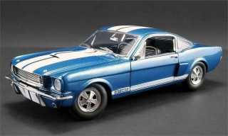 Shelby GT350 Supercharged 1966 sapphire blue with white stripes 1:18 Acme Diecast