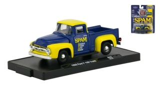 Ford F-100 Truck *Spam* 1956 blue, yellow 1:64 M2 Machines