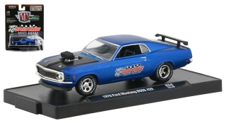 Ford Mustang BOSS 429 *Speed Dawg* 1970 blue, black 1:64 M2 Machines