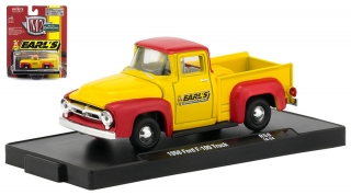 Ford F-100 Truck *Earl's Performance Plumbing* 1956 yellow, red 1:64 M2 Machines