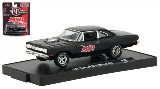 Plymouth Road Runner 440 *MSD* 1969 black 1:64 M2 Machines