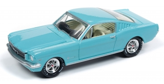 Ford Mustang Fastback 1965 tropical turquoise 1:64 Johnny Lightning