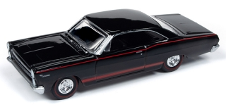 Mercury Comet Cyclone GT 1966 gloss black with red side stripes 1:64 Auto World