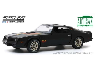 Pontiac Firebird *Fire Am* by Very Special Equipment 1977 black with hood bird 1:18 Greenlight