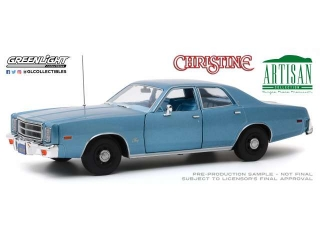 Plymouth Fury *Christine 1983 Detective Rudolph Junkins* 1977 blue 1:18 Greenlight