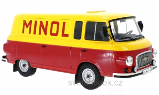 Barkas B 1000 Kastenwagen Minol 1970 yellow/red 1:18 MCG Modelcar Group