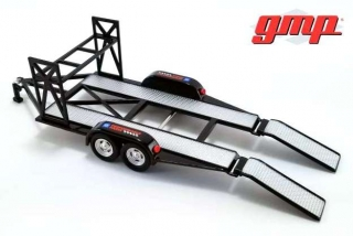 Tandem Car Trailer with Tire Rack Chevrolet 1:43 G.M.P.