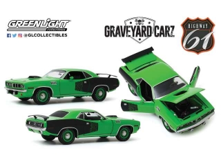 Plymouth Cuda with Custom Crate 392 HEMI Engine *Graveyard Carz* 1971 1:18 Highway 61