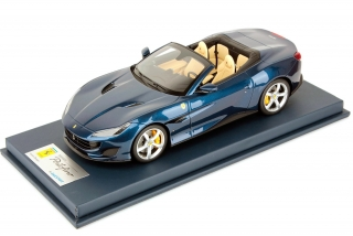 Ferrari Portofino open roof Blue Tour de France 1:18 Look Smart