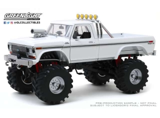 Ford R-350 Monster Truck Kings of Crunch 48-inch Tires 1979 white 1:18 Greenlight