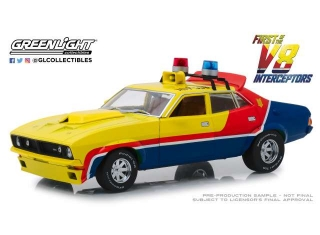 Ford Falcon XB 4-Door Sedan M.F.P. 1974 yellow/blue/red 1:18 Greenlight
