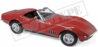 Chevrolet Corvette Convertible 1969 red 1:18 Norev