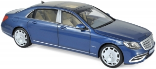 Mercedes-Maybach S650 2018 blue metallic 1:18 Norev