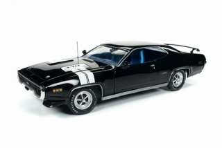 Plymouth GTX Hardtop 1971 black 1:18 Auto World