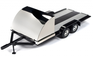 Trailer black/chrome 1:18 Auto World