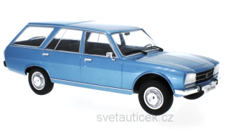 Peugeot 504 Break 1976 light blue metallic 1:18 MCG Modelcar Group