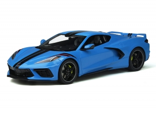 Chevrolet Corvette C8 Rapid blue 1:18 GT Spirit