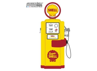 Wayne 100-A Gas Pump Super Shell Series 8 1948 yellow/red 1:18 GreenLight